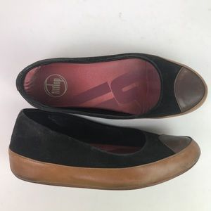 Fitflop slip on shoes leather